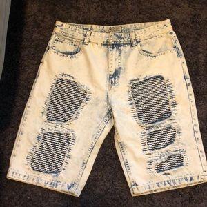 Men's designer jean shorts